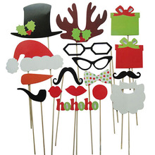 1 lot/ 17 Pieces DIY Photo Booth Mustache On A Stick For Wedding Birthday Christmas Decoration Fun Favor