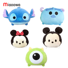 1pc 21cm Cartoon Plush Car Pillow Mickey and Minnie Mouse, Moster, Stitch Plush Toy Creative Plush Nap Pillow