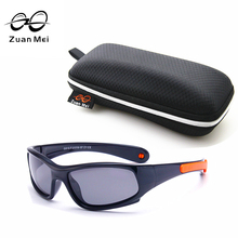 New Top Quality Kids TAC Polarized Kids Sunglasses UV400 Boy/Girls Cool TR90 Rubber Summer Tour Glasses Eyewear ZM8810(China)