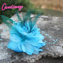 2017 Light Blue New Arrival Plastic Hair Clips Women Girls Wedding Hair Accessories Hairpin Wrist Cuff Elegant HeadBand Elastic