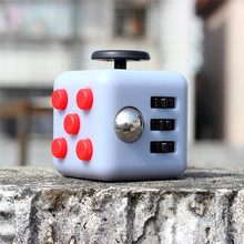 3.3cm Fidget Cube Vinyl Desk Toy Keychain Squeeze Fun Stress Reliever 13 Colour Click Glide Flip Spin Breathe Roll Retail Box(China)
