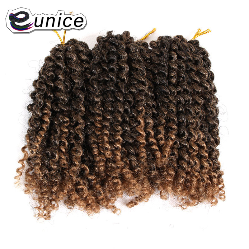 Synthetic Ombre Braiding Hair Mali bob Kinky Curly Crochet Hair (65)