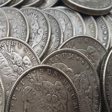 Silver Date 1878-1921 96 Pieces Morgan Dollars copy coins -High Quality (26.4-26.8g)(China)