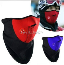 50PCS Bicyle Cycling Motorcycle Fleece Half Helmet Face Mask Winter Hood Windproof Cap Headwear Thermal for Sports Ski Snowboard(China)