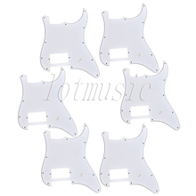 6* White Pickguard One Humbucker for Fender Strat ST Scratch Plate Replacement