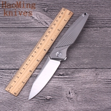 M390 Outdoor Camping Folding Knife Titanium Hunting Rescue Utility knives Survival Tactical Bearing system EDC Travel Tools gift(China)