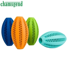 Pets Dog Toy Rubber Rugby Football Toys For Biting Molar Clean Teeth Diet Control Dental Massaging Ball