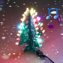 Music 3/7 Color Colorful Flashing Light Christmas Tree DIY Kits Flash Electronic Assembly Parts Funny Christmas Gift Song 3D(China)