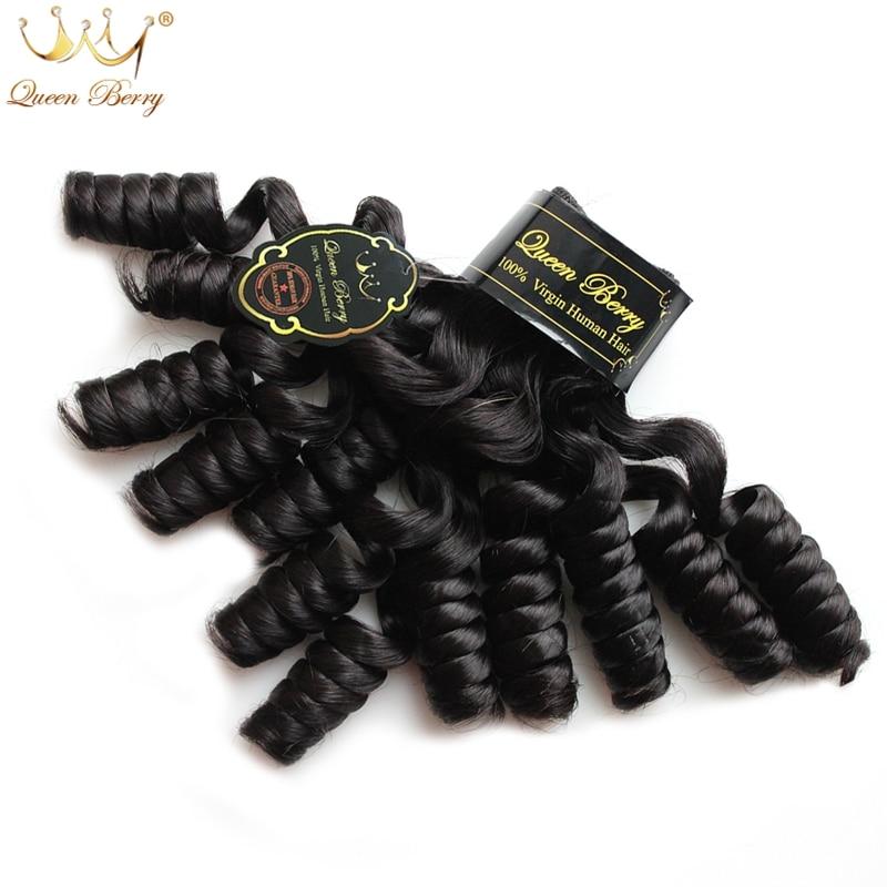 Queen Hair Products Brazilian Virgin Hair Tip Curl 4 Bundles 10A Unprocessed Human Hair Funmi Hair Tip Curl Natural Wave 1B<br><br>Aliexpress