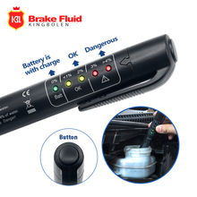 Brake Fluid Liquid Tester Pen With 5 LED Accurate Oil Quality Check Pen Diagnostic Tools Mini Brake Fluid Tester For DOT3/DOT4(China)