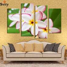 4 Pcs/Set Fashion Brand Hot Sale Canvas Picture flower Painting Red white yellow canvas print for living room home decor F18890