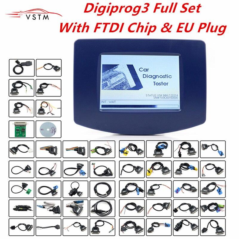 Newest 2019 Digiprog3 Full set Digiprog 3 V4.94 Odometer programmer FREE DHL