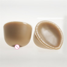 Buy 4100g/pair Large Classic Round Breast Form Artificial Silicone Brown Boobs Drag Queen Shemale Crossdresser Breast Enhancer