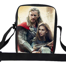 2015 Popular Small Shoulder Bag For Kids Character The Avengers Superhero Captain America Thor Messenger Bag For School Boys
