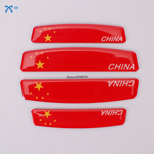 For China Chinese Flag For Jaguar Jeep KIA Lexus Mazda Opel Porsche Peugeot Plastic Cement Door Side Edge Protection Stickers