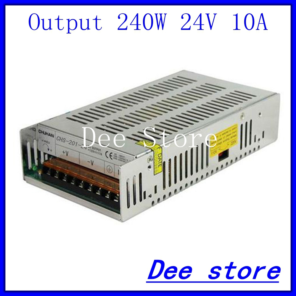 240W 24V 10A Single Output  Adjustable Switching power supply unit for LED Strip light Universal AC-DC Converter<br>