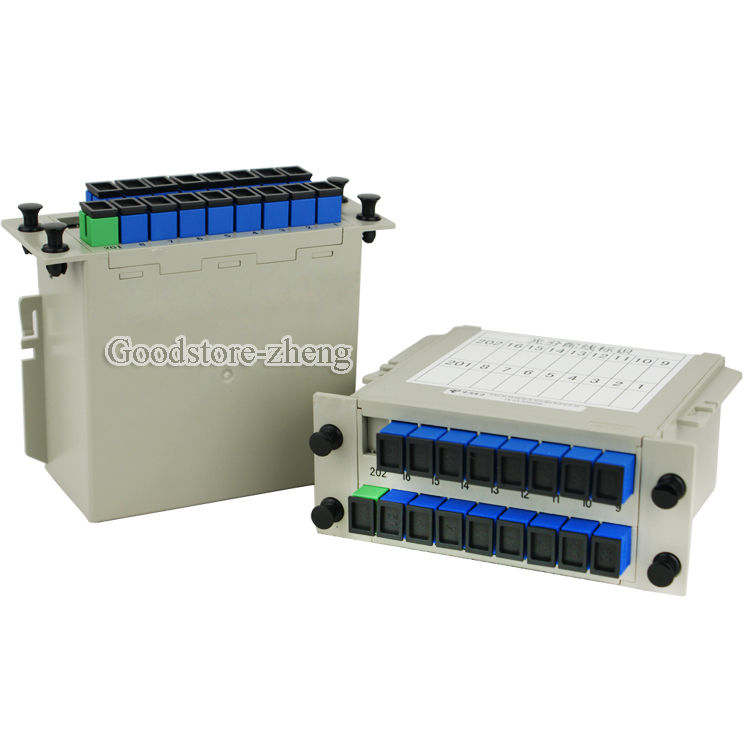 SC/UPC 1*16 Module PLC Fiber Optical Splitter SC/FC/ST/LC Connector PLC Splitter<br>