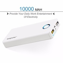 Wopow Universal High Capacity Power Bank Mobile Phone Powerbank Dual USB Fast Charging External Battery Pack LED Light