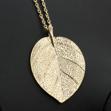 Buy Leaf Necklace Women Men Gold Color Big Leaves Statement Charm Pendant Vintage Jewelry Accessories Long Link Chain Choker for $1.07 in AliExpress store