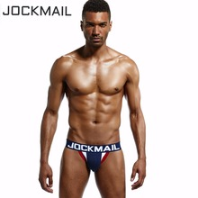 Buy JOCKMAIL Brand Mens Underwear Jock Straps Briefs Bikini Cotton Men Jockstraps Gay Penis Pouch Thong G Strings Backless Buttocks