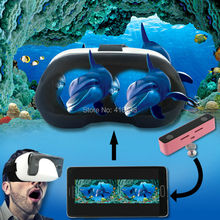 3D Video VR Camera Mini Aluminum Digital Pentax Video Audio Dual Lens Camcorder with Virtual Reality 3D Glasses kit(China)