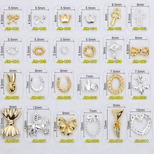 1000PCS/Lot  2016 new nail art metal studgold alloy new japaneses nail art 3d metal plates nail art+JM188-253