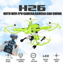 Fpv Drones With HD Camera Jjrc H26 Swing Wifi Radio Camera Hexacopter Professional Drone Dron Rc Quadcopter Flying Helicopter(China)