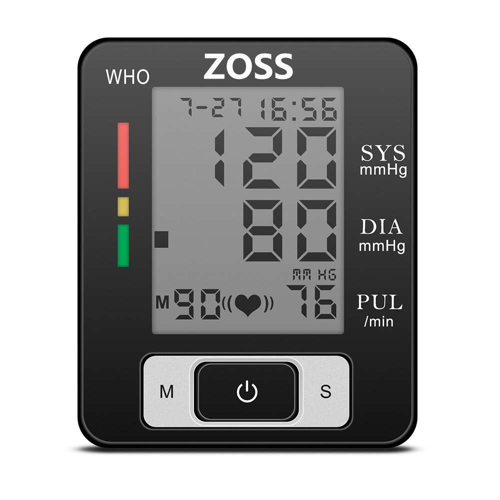 ZOSS English or Voice Cuff Wrist Sphygmomanometer <font><b>Blood</b></font> Heart Tonometer