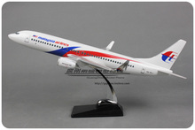 Brand New 1/84 Scale Airplane Model Toys MALAYSIA AIRLINES Boeing B737-800 (47cm) Resin Plane Model Toy For Gift/Kids/Collection
