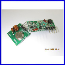1set/lot  100% new RF wireless receiver module & transmitter module Ordinary super- regeneration 315/433MHZ for arduino