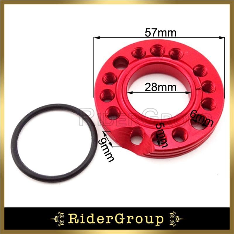 stoneder CNC aleaci/ón 26/mm carburador colector Spinner placa adaptador para Mono Dax Pit Pro suciedad Trail para bicicleta ATV Quad Motocross Motocicleta
