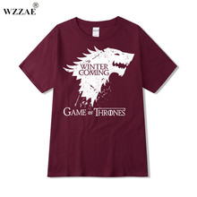 WZZAE 2017 New Fashion The North Remembers Blood Wolf T Shirt Men's Novelty Game of Thrones Tshirt High Quality Hipster Tee Tops
