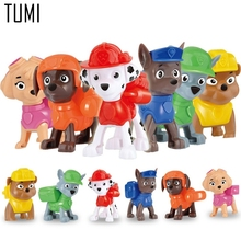 2017 New Action Figure Toys 6Pcs/Set Patrol Puppy Dog Toy Children Anime Toy Figures Patrolled Dog Model Toys P022