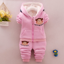2017 Children's winter Clothing Warm winter sports Set Boys and girls 2 pieces Sets Children's suits Kids clothes Cotton product