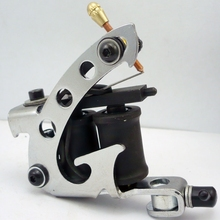 Coil Tattoo Machine New Arrival Tattoo Machines 10 Wrap Coils Tatoo Gun black Steel Tattoo Frame For Shader Free shipping(China)