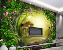 beibehang Personalized bedroom living room background wallpaper rose cane beautiful forest TV couch papel de parede 3d wallpaper