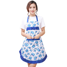 6 color Waterproof Kitchen Aprons for Woman Micro Fiber Peach Sleeveless Pockets Cooking Work oil-proof Fashion Ladies Aprons(China)