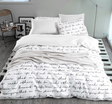 Letter Printing Duvet Cover Sets Activity Bedding sets King Russia USA Size Bed Cover Factory Home Textiles White Customizable