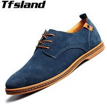 Buy Tfsland New Men Suede Leather Shoes Leisure Men Lace Flats Suede Oxfords Walking Shoes Sneakers Zapatillas Hombre Size 38-47 for $22.30 in AliExpress store