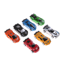2pcs 8 CM*3.5 CM*2.4 CM Vehicles Car Model Miniature Scale Model Car Toys For Children plastic Car Diecasts & Toy(China)