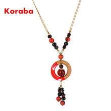 Long Necklace Handmade Pendants With Chain length: 32cm(Min.) -58cm(Max.) For Women Ladies Gift NL-L03(China)