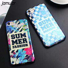 Buy JAMULAR SUMMER Flower Grid Phone Cases iPhone 6 6s 7 8 Plus Case Blue-ray Floral Silicone Soft Back Cover iPhone 7 Plus for $2.63 in AliExpress store