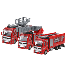 1:48 Scale Pull Back Alloy Car Model Kids Water Tank Car/Ladder Truck/Ambulance Car Model Toy Gift