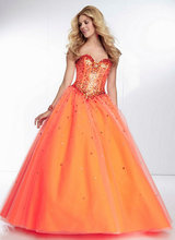 Tonal Beaded Bodice on a Tulle Sweetheart Corset Top New Arrival Prom Dress A-line Gowns 2015 Parfumes Women