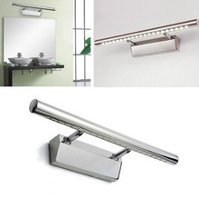 100% High Quality 6W SMD white LED Mirror Front Light Lamp Bath Wall Stainless Steel(China)