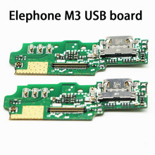 New Original usb plug charge board For Elephone M3 Mobile Phone Flex Cables charging module Microphone cell phone Mini USB Port