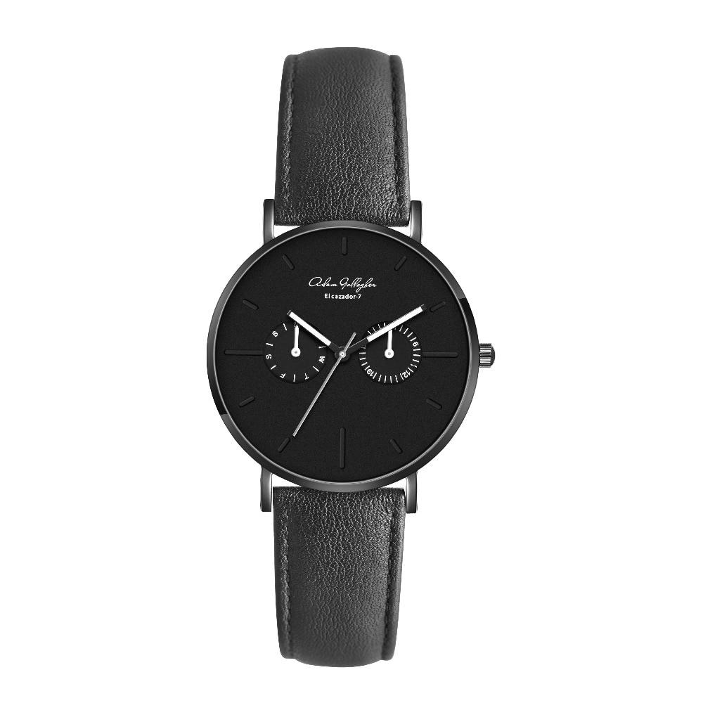 Adam Gallagher Top Luxury Brand Quartz watch men Casual Japan Wrist Watch stainless steel Mesh strap ultra thin clock men watch<br>
