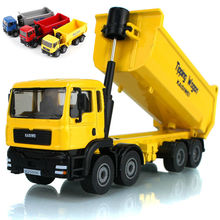 Alloy engineering car model toy in gift box all alloy 1:50 dump truck eight wheel truck toy model kid toys gift(China)