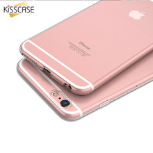 KISSCASE Ultra Thin Crystal Clear Case For iPhone 7 6S Plus 5S SE Hard Acrylic Back + Soft TPU Frame Phone Cover For iPhone 7 6S