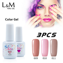 3 Pcs Kit Color Gel Polish Nail UV Lamps Colorful Varnishes Lasting Manicure Phototherapy Manicure Cosmetic Gorgeous Fingernail(China)